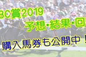 CBC賞2019 単勝・複勝予想・結果・回顧 【馬券公開】