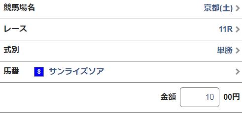 平安ステークス2019単勝馬券2