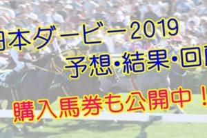 日本ダービー2019 単勝・複勝予想・結果・回顧 【馬券公開】