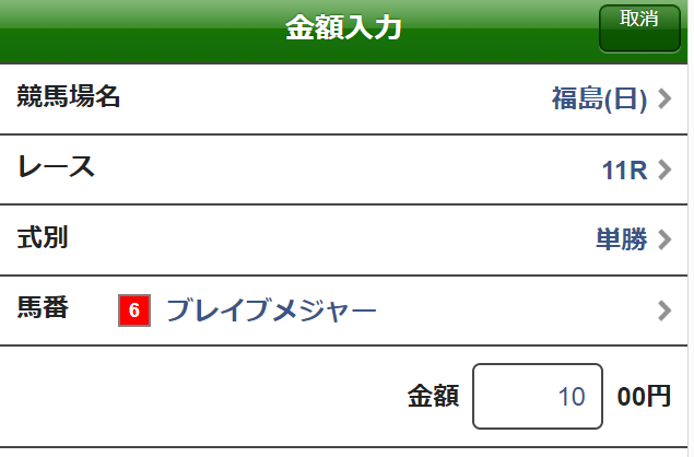 ラジオNIKKEI賞2019単勝馬券1
